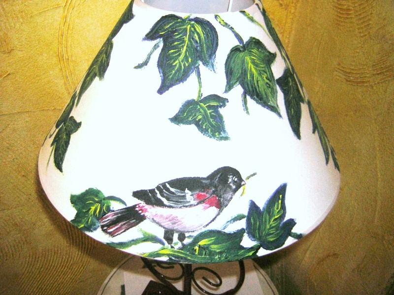 lampe peinte décor nature création Sylvie G.